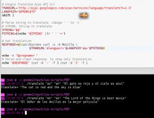 Script para traducir textos desde linea de comandos