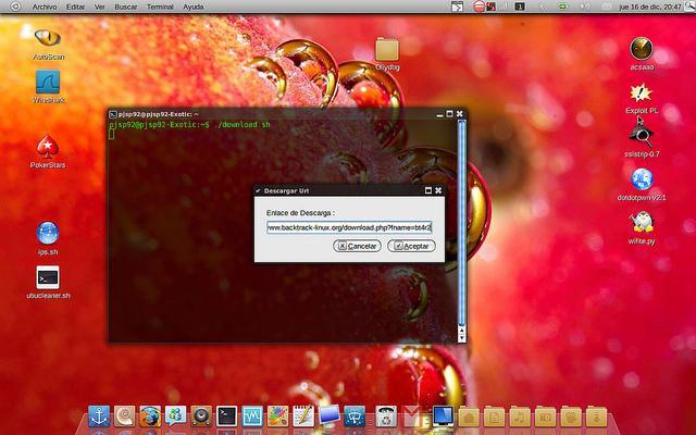 script para descargar ficheros con barra de progreso (wget & zenity)