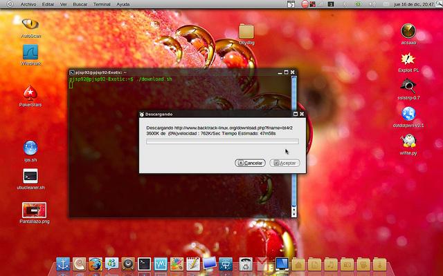 script para descargar ficheros con barra de progreso